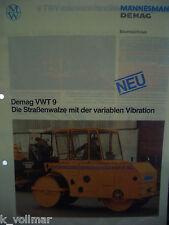 ✪Sales Brochures Baumaschinen PROSPEKT Mannesmann Demag VWT9 Straßenwalze