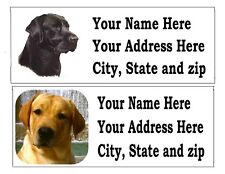 120 LAB LABRADOR RETREIVER DOG RETURN ADDRESS LABELS