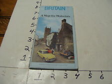 vintag travel paper--1978 BRITAIN MAP FOR MOTORISTS