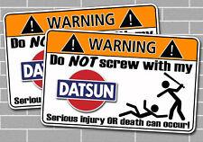 Funny Classic Datsun OEM CAR Warnig Sticker Decal