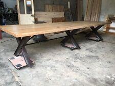 immense table en chêne massif cuisine salon salle à manger d'hôte loft de 4 m