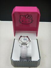 NWT Sanrio HELLO KITTY  Women's Watch (HK1670) Leather Bracelet - NEW BATTERY!
