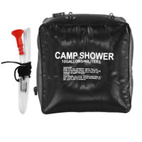 40L Portable Shower Heating Pipe Bag Solar Water Heater Outdoor Camping Camp