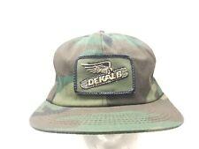 Vintage 70s 80s K Products Dekalb Patch Farmer Camo Snapback Hat Cap USA RARE