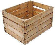 European vintage en bois pomme fruit crate rustique vieux BOISSEAU BOX Christmas Hamper