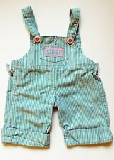 Vintage Kid Sister Overalls Blue With Pink Stripes 80's Clothes