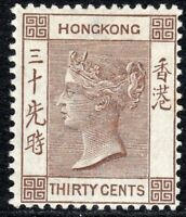 Hong Kong 1900 brown 30c crown CA mint SG61