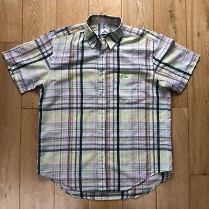 Lacoste short sleeve summer linen shirt - size medium M/L - lacoste 40