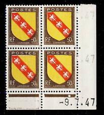 FRANCE - 1947 - N°757 50c LORRAINE COIN DATÉ du 9.7.47 (1 point blanc) - TB