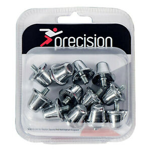 Precision Set of 12 Silver Rugby Union Replacement Studs - 18mm