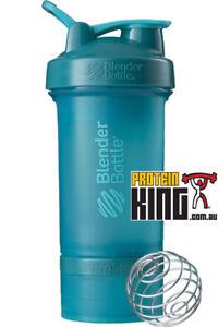 BLENDER BOTTLE PROSTAK 500ML TEAL PROTEIN SHAKER CUP BPA FREE PRO STAK 16 OZ