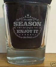 "Jack Daniel's ""Its A Short Season, Enjoy It"" Rocks Low Ball Etched Glass"