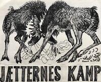 Karl Adser 1912-1995 Kämpfende Elche Kampf der Giganten Tiere Natur