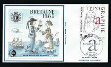 FRANCE BRETAGNE BLOC CNEP 7 ENVELOPPE - '1 Mars 1986 Rennes'  SALON PHILATÉLIQUE