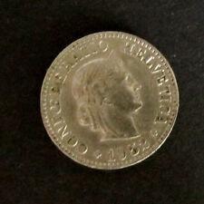 """Münze 10 Rappen Schweizer Franken 1952 """"B"""" aus Umlauf gültiges Zahlungsmittel"""