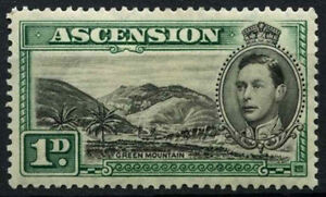 Ascension Is. 1938-53 SG#39, 1d Black And Green P13.5 MH KGVI Cat £45 #D42177