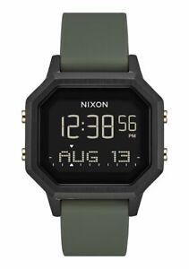 New Nixon Women's Siren SS Digital Watch Black Fatigue
