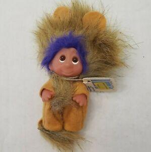 Adopt Dam Norfin Troll Leo Lion Purple Brown Mane Hair 50523 mint w/ Tag