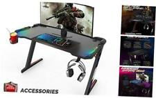 Premium Home Office PC Computer Table for Gamer Pro, Black Gaming Desks