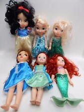 "Disney Doll ARIEL 14"" 2 Animators Belle Snow White Frozen Elsa Anna LOT"