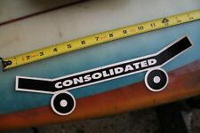 Consolidated Skateboards Punk Rock Hesh Skate Z17 Vintage Skateboarding Sticker