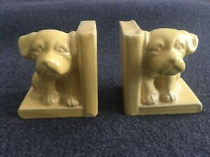 Vintage Ceramic Small Dog Bookends