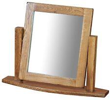 Logan Solid Oak Furniture Single Dressing Table Mirror
