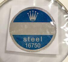 ROLEX 16750 acciaio fondello Blu Adesivo certificato anni 1980 GMT MASTER PEPSI nn.