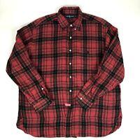 Ralph Lauren Men's Size XL Red Plaid Button Down Shirt Mcmeel Cotton Christmas