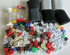 Huge job lot dice and shakers and timers mixed lot bakelite wood plastic