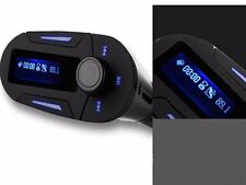 LCD Car MP3 FM Transmiter Modulator For ipod MP3 Player USB SD with Remote Blue
