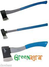 Greenagrar Profi  3er Axt-Set Spaltaxt Axt Beil Spalthammer Spaltkeil Spaltbeil