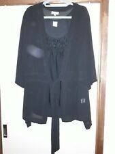 Autograph cardigan 18, and cami, 18, black, new