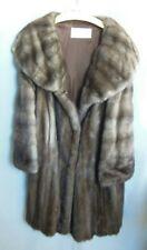 Vintage Fettner Friedman Furs Supple Mink Fur Coat 2 Pockets Large Collar L/Xl