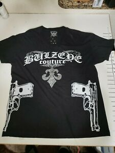 Bulzeye Black label Graphic T-shirt Couture, X-Large,.