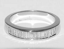PLATINUM Baguette Diamond Anniversary Wedding Band Ring Heavy 7.5Gr Size 6.75-7