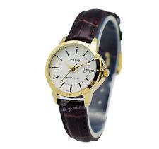 -Casio LTPV004GL-7A Ladies' Leather Fashion Watch Brand New & 100% Authentic
