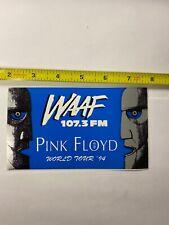Pink Floyd WAAF sticker promo Rare