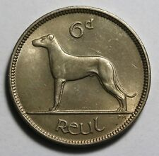 1953 Ireland Sixpence 6 Pingin  KM# 13a UNC Coin