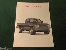 1990 GMC TRUCK FOLD OPEN SALES BROCHURE POSTER ORIGINAL NEW MINT  (BOX 410)