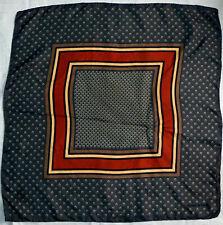 Vintage Scarf / Bandanna 100% Silk Daniel La Foret Tiny Horse Shoes Geometric