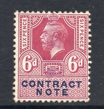 GB = G5 6d Contract Note Revenue stamp. Used. (ma)