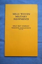Booklet, Mills Woven Military Equipments, Mills Belt Company, Worcester, MA