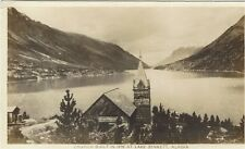 1944 Real Photo postcard - Church Built in 1898 at Lake Bennett, Alaska