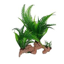 Plastic Plant Green on Base Aquarium Decoration