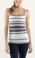 Lululemon Power Y Tank Luon Light Groovy Stripe Nimbus / Soot Light