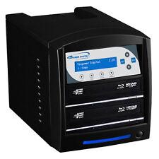 1-2 Blu-ray DVD CD Duplicator 500GB HDD Add BD Copy Protection SharkBluCP-S2T-BK