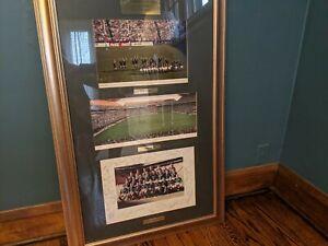 1995 Rugby World Cup Final Framed Autographed Team Photos Springboks Mandela