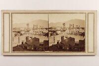 Italia Pompei Théâtre c1860 Foto Stereo Vintage Albumina