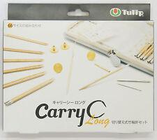Tulip TCC-07 Carry C Long Bamboo Knitting Needles Set (Gray)